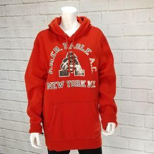 Mens American Eagle Hooded Sweatshirt XXL